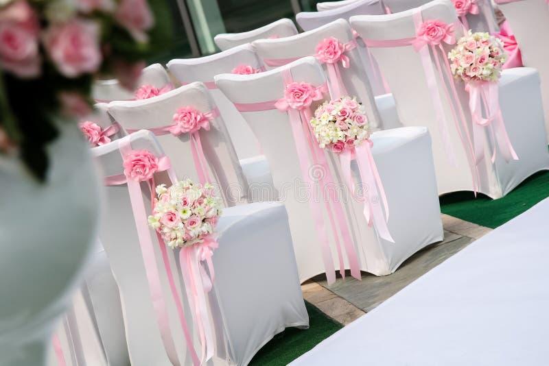 婚礼场面 免版税库存照片