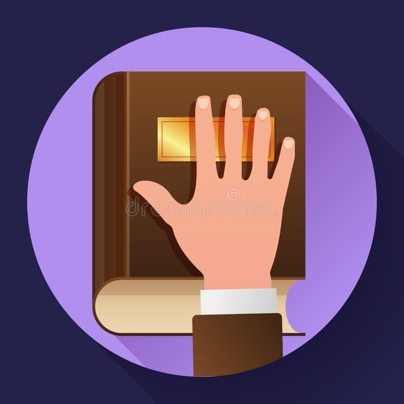 在宪法的手作为誓言概念象 库存例证