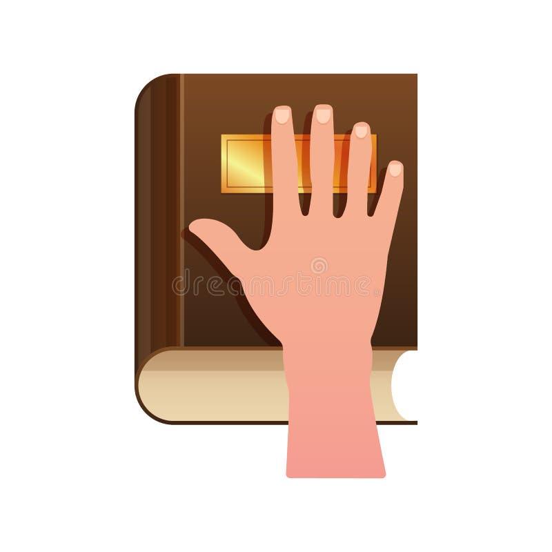 在宪法的手作为誓言概念象 向量例证