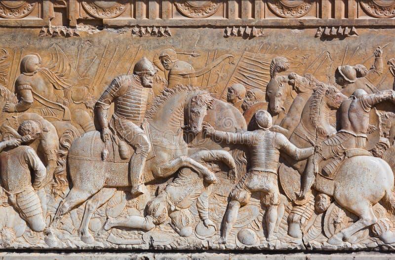 在宫殿阿尔罕布拉宫-格拉纳达西班牙的浅浮雕 库存照片