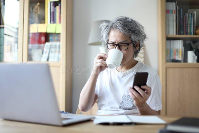在家工作 免版税库存照片