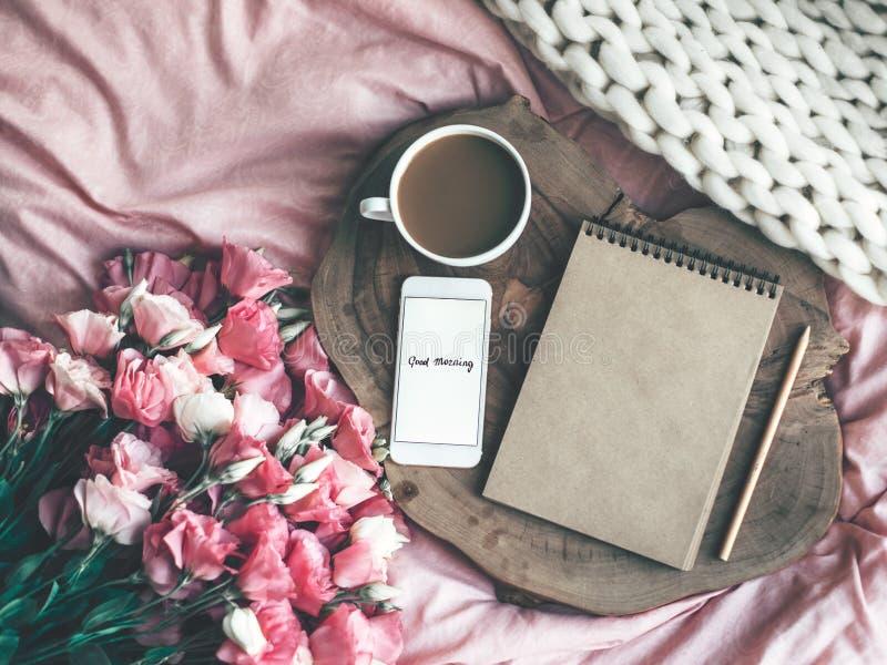 在家放松或工作概念 库存图片