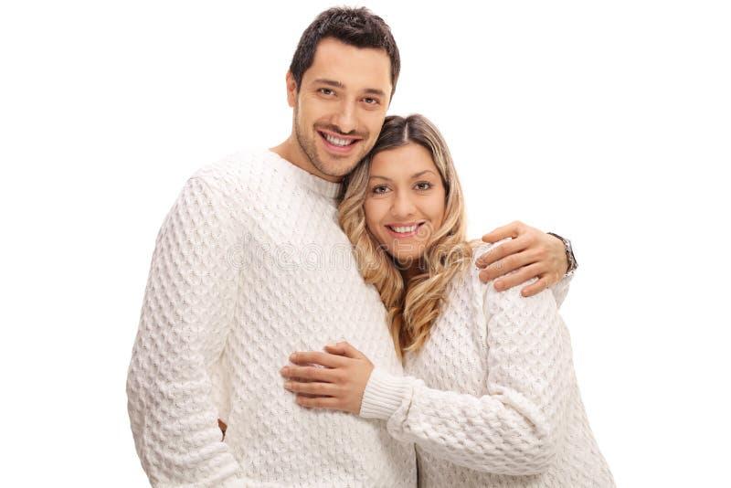 在容忍的愉快的年轻夫妇 库存图片