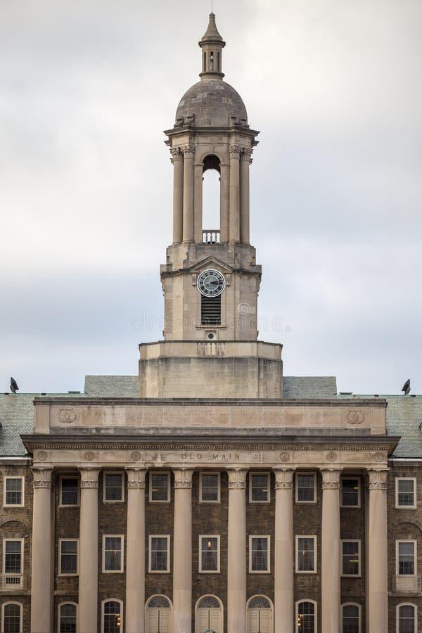 在宾夕法尼亚州立大学的老主要 免版税库存图片