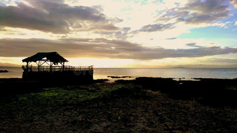 在宿务岛的日落 免版税库存图片