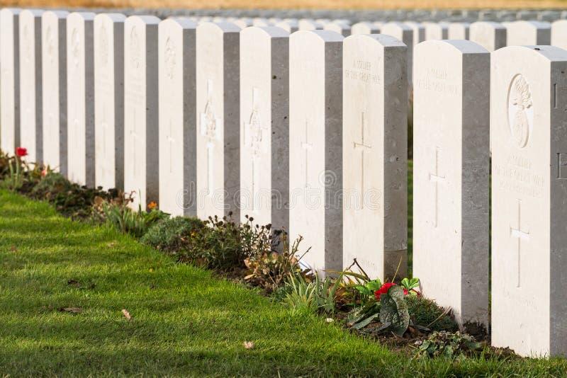 在富兰德领域的坟墓 库存图片