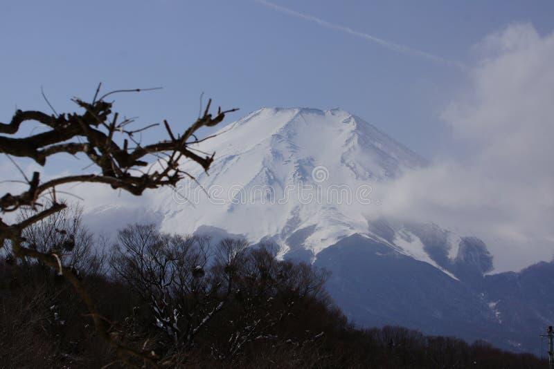 在富士山的云彩 库存图片