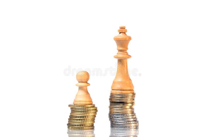 在富有和贫寒之间的收入区别 免版税库存图片