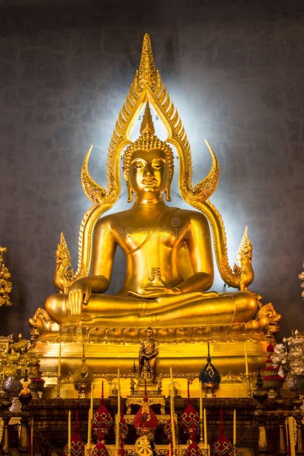 在寺庙的菩萨图象 免版税库存图片