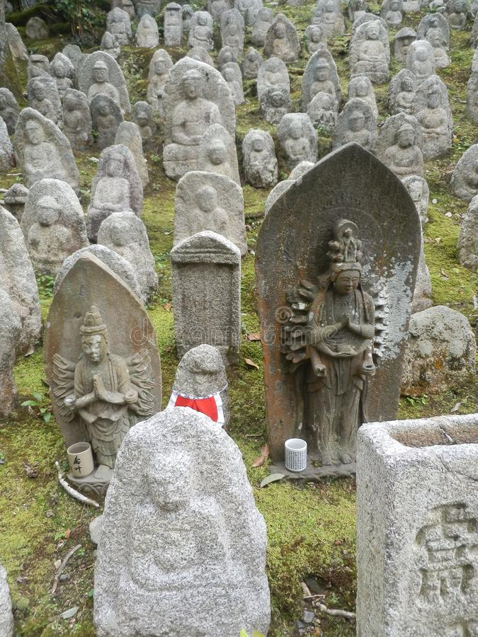 在寺庙的雕象 免版税库存照片