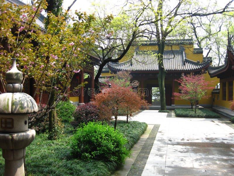 在寺庙的风景 免版税库存图片