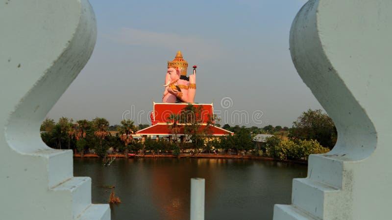 在寺庙的Ganesha 库存图片