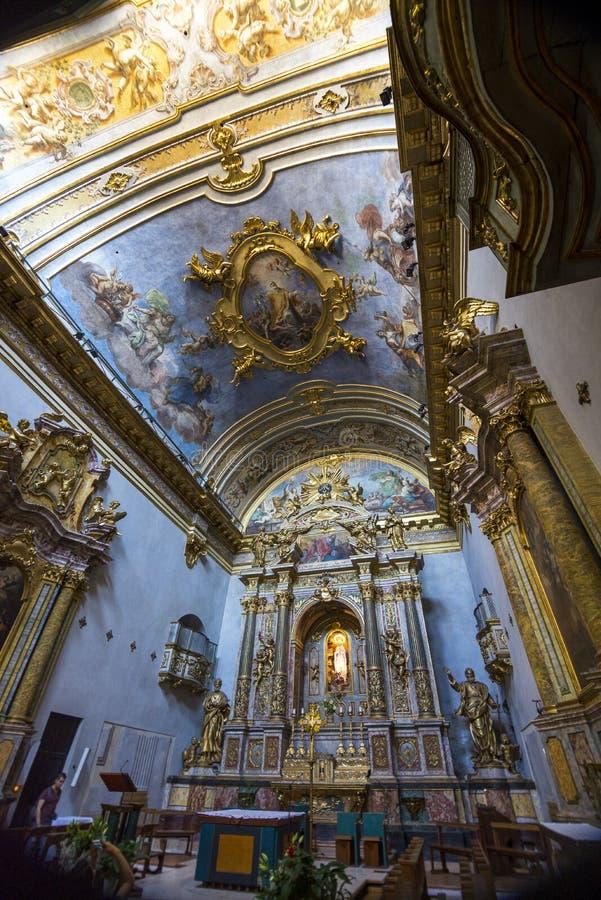 在寺庙里面的法坛 库存图片
