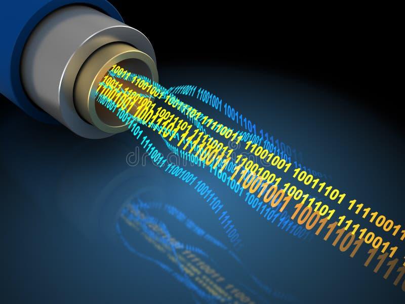 在导线的二进制数据 库存例证