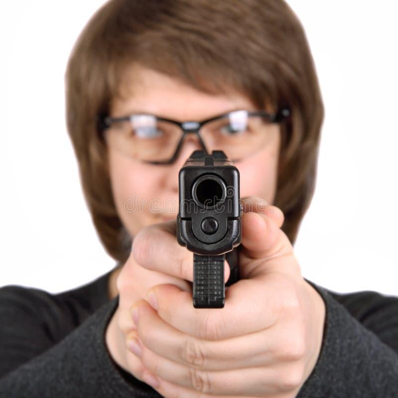 在射击前的目标 免版税库存照片