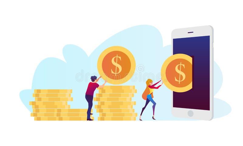 在将来投资传染媒介例证 聪明的投资、财务和银行业务的平的设计观念 皇族释放例证