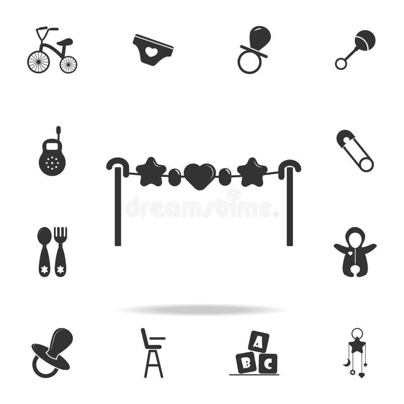 在小儿床象的玩具 套儿童和婴孩玩具象 网象优质质量图形设计 标志和标志汇集, 向量例证