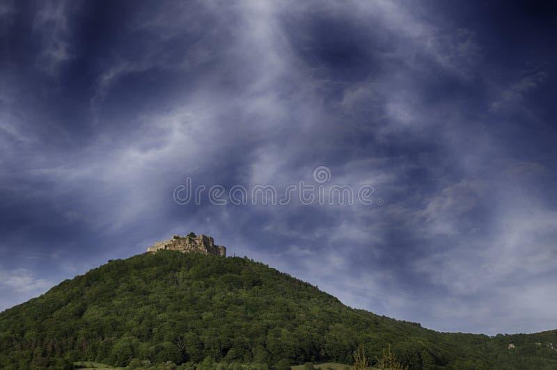 在小山的城堡 图库摄影