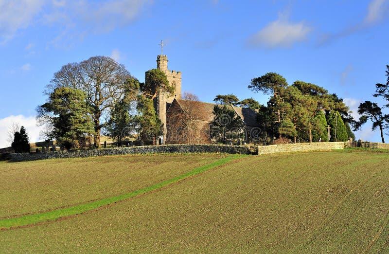 在小山的St Patricks,普雷斯顿・帕特里克, Cumbria 免版税图库摄影
