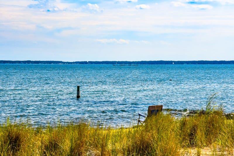在小的海湾的可利用的位子,弗吉尼亚 免版税图库摄影