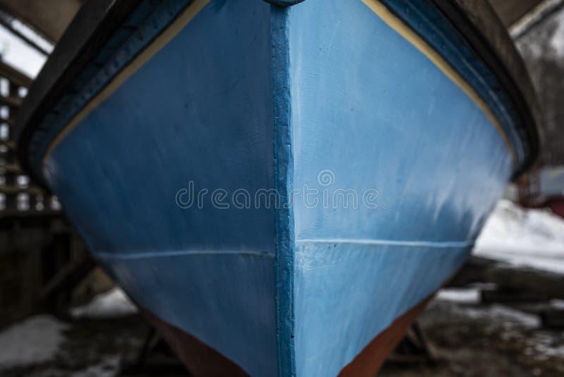 在小船前面 库存图片