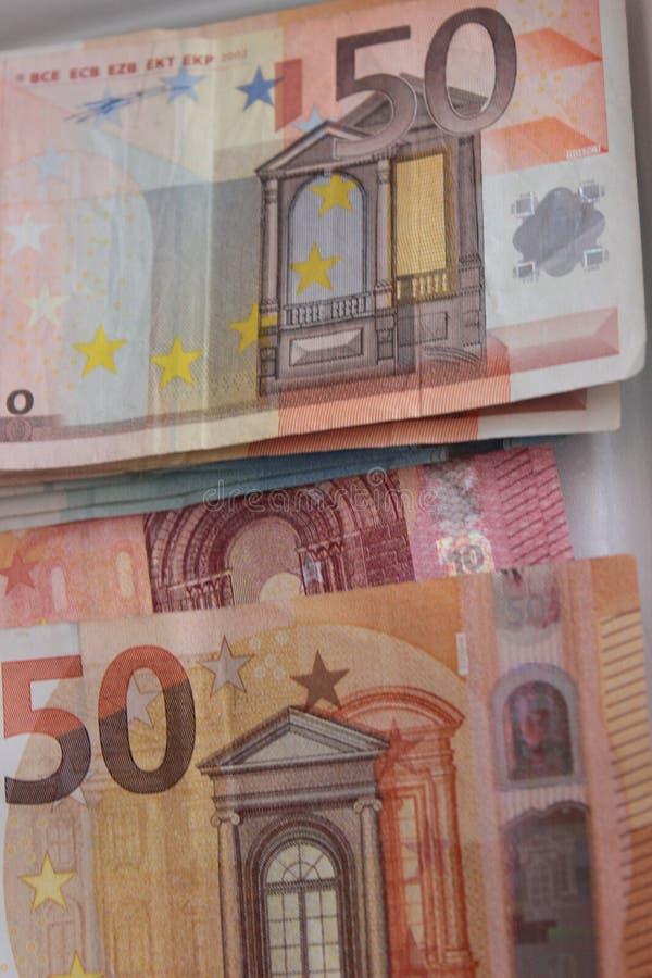 在小钞票的欧洲货币 免版税库存照片