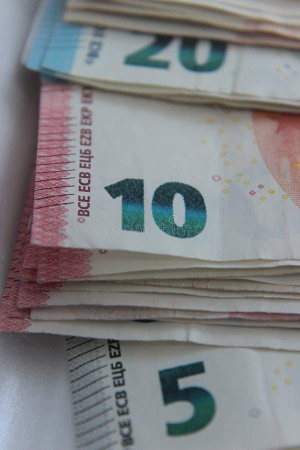 在小钞票的欧洲货币 免版税库存图片