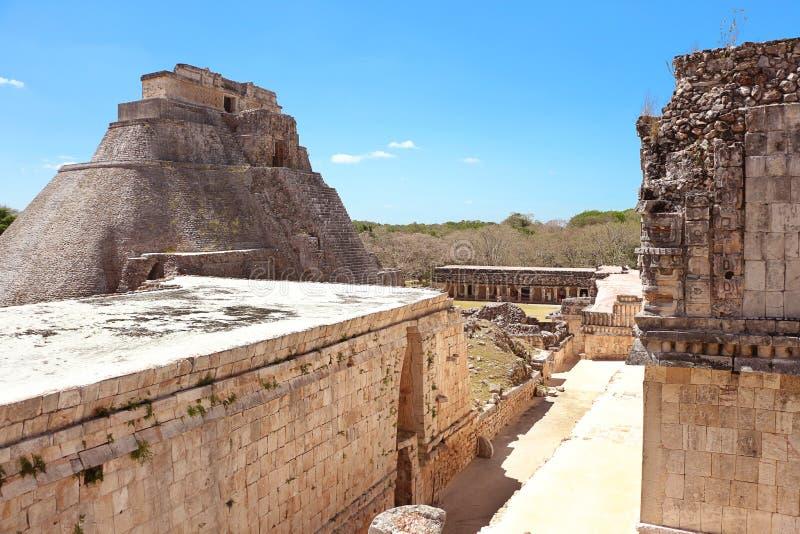 在尤卡坦半岛的乌斯马尔废墟 库存照片