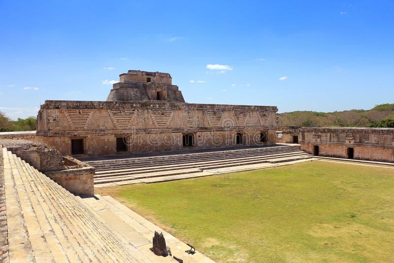 在尤卡坦半岛的乌斯马尔废墟 免版税库存图片