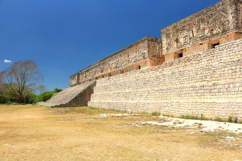 在尤卡坦半岛的乌斯马尔废墟 免版税库存照片