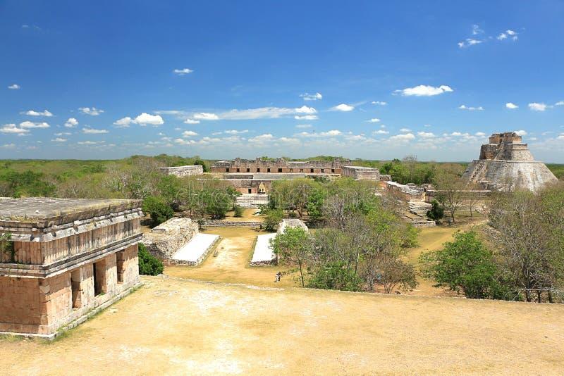 在尤卡坦半岛的乌斯马尔废墟 免版税图库摄影