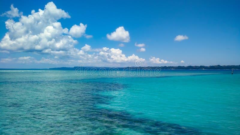 在尼尔海岛,安达曼群岛的绿松石水 图库摄影