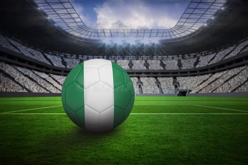 在尼日利亚颜色的橄榄球 向量例证