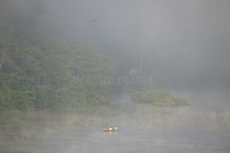 在尼罗河的雾 图库摄影