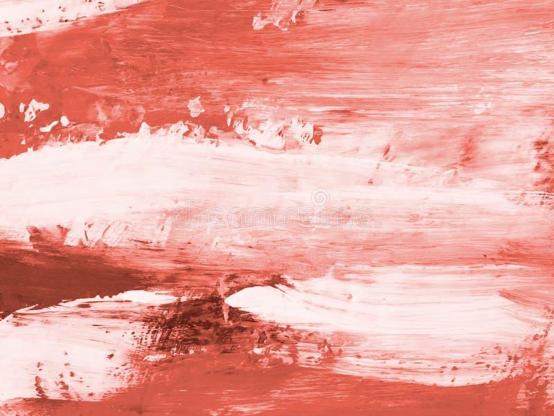 在居住的珊瑚颜色的创造性的抽象绘画 皇族释放例证