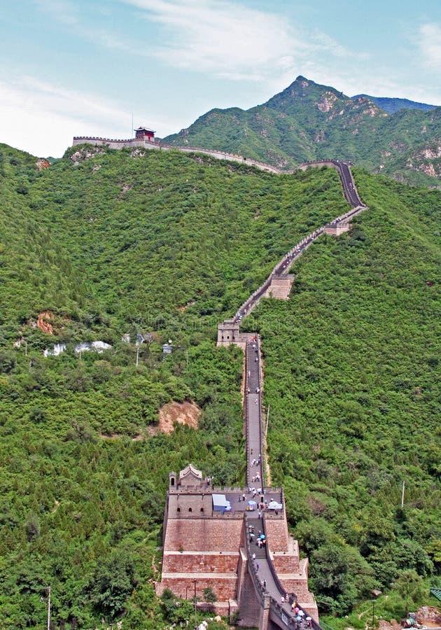 在居庸关的汉语长城 库存图片