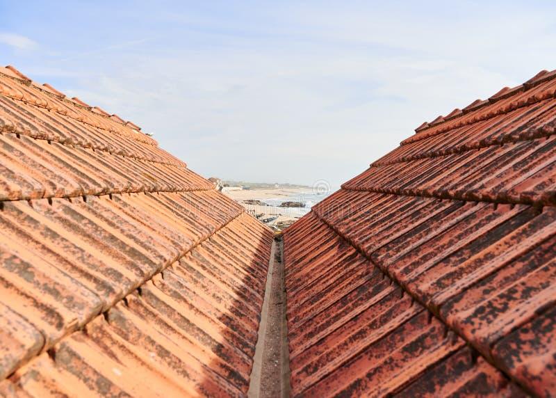 在屋顶之间的看法 免版税库存照片