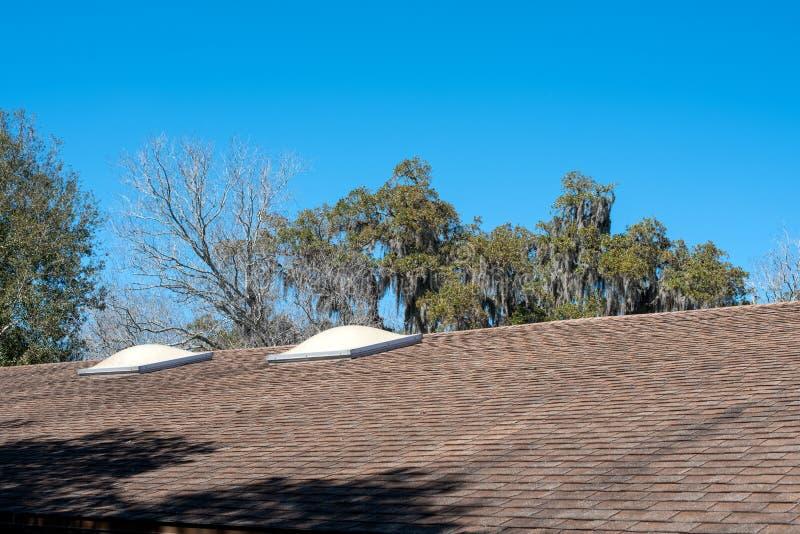 在屋顶的天窗 库存照片