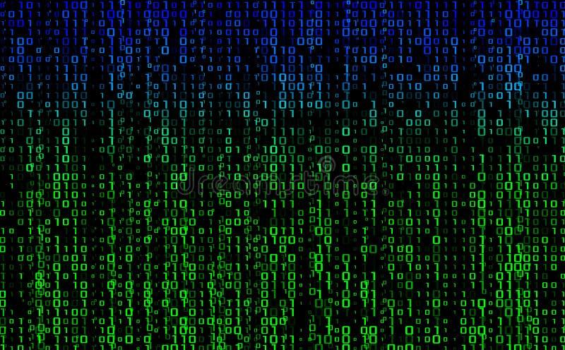 在屏幕上的小河二进制矩阵代码 计算机矩阵数字 概念属于编码,隐藏交换,乱砍或者我的 皇族释放例证