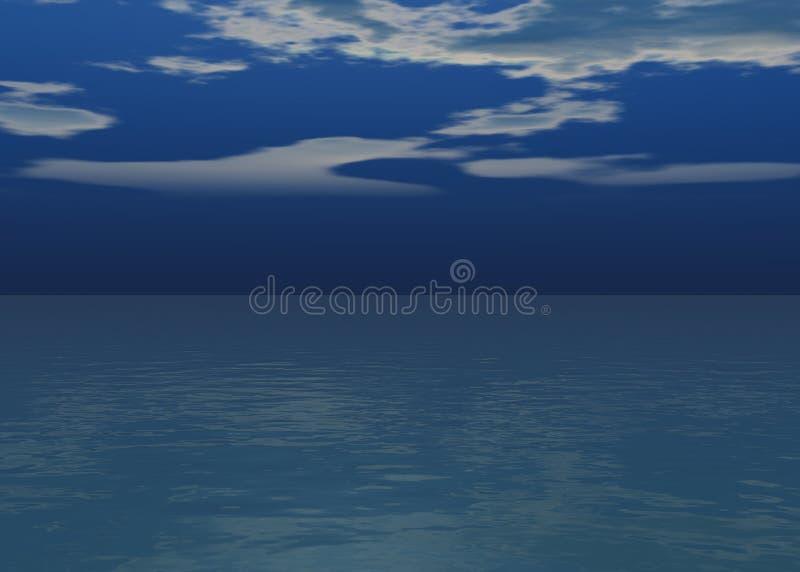 在展望期之上的极光海日落 向量例证
