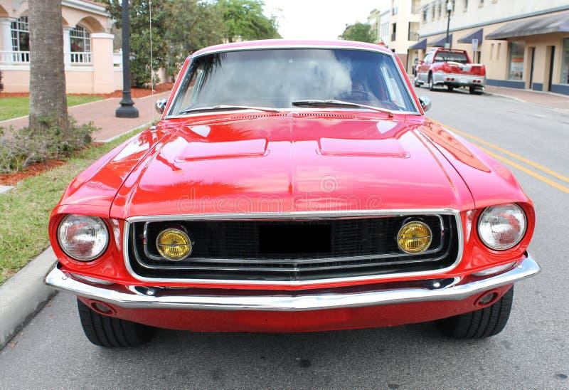 老Ford Mustang汽车 库存图片