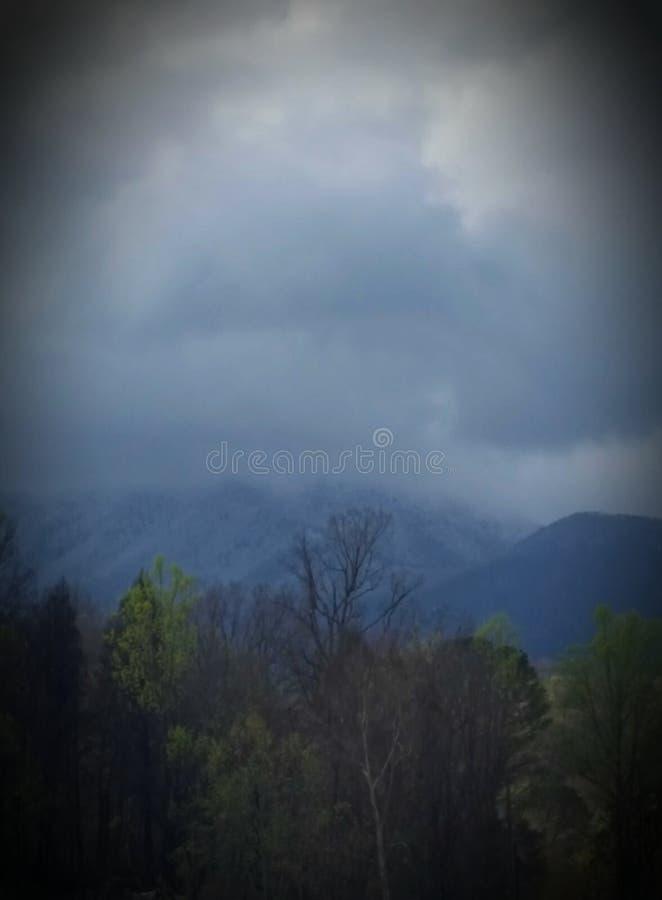 在山上面的放松 免版税库存照片