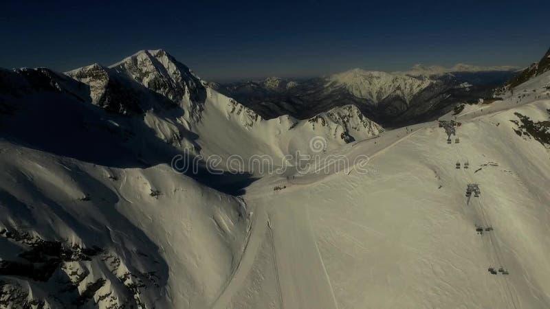 在山上面的Skislope  空中录影 股票录像