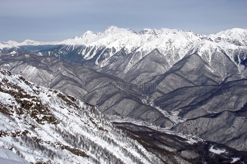 在山之上 库存照片