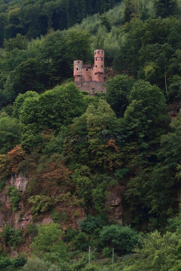 在山坡的城堡 免版税库存图片