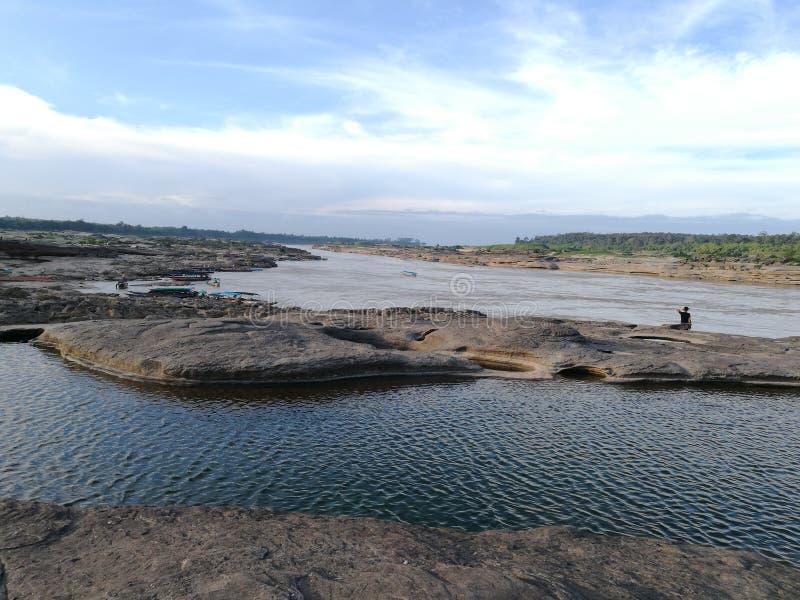 在山姆平底锅Bok & x28的自然游泳池; thailand& x29峡谷; 库存照片