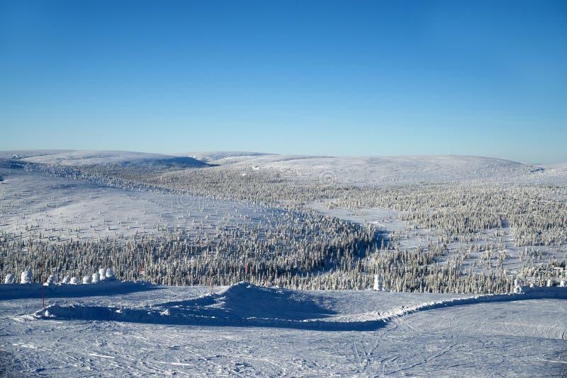 在山的发光的天气 免版税图库摄影