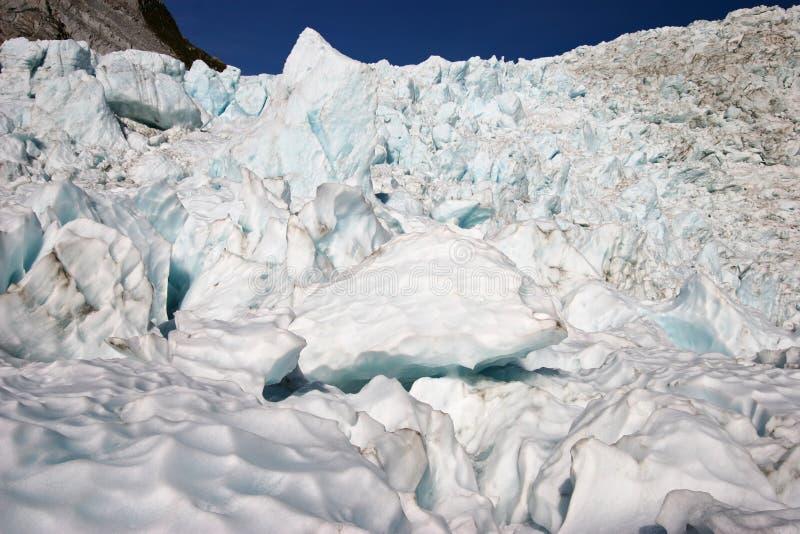 在山的坚固性冰川冰大块 免版税图库摄影