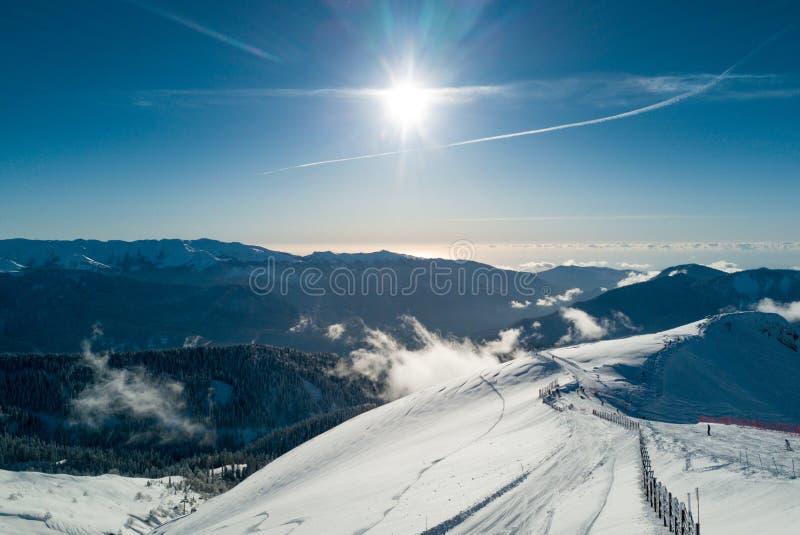 在山的晴朗的看法在索契 免版税库存照片
