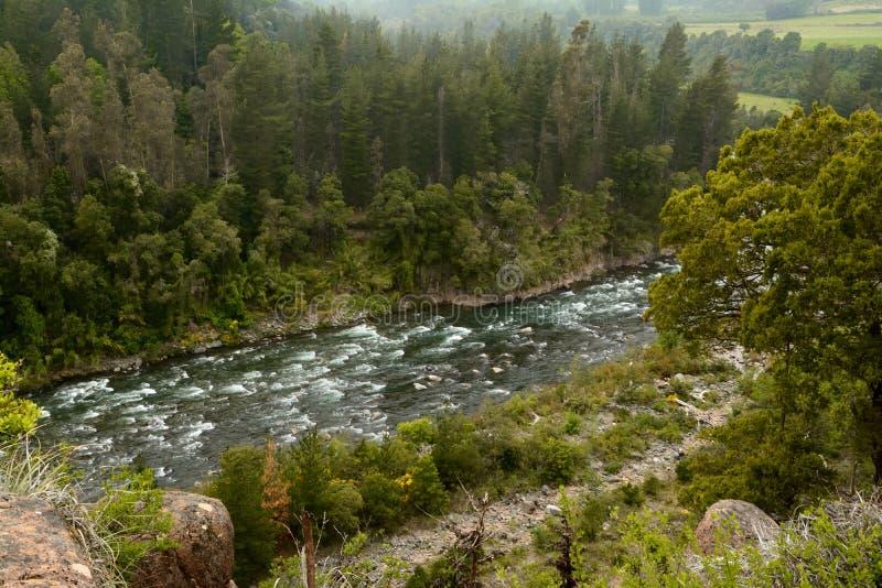 在山的河流程 免版税库存照片
